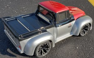 URCG Edition - Traxxas Slash 4x4, ProLine body - Silver Ford 56 F-100, Duratrax Bandito Tires - named Silver Stinger (top view)