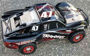 URCG Edition - Traxxas Slash 4x4 TSM OBA - Mike Jenkins, ProLine Trencher Tires - named Beast (top view)