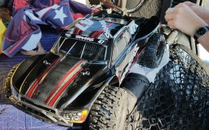 URCG Edition - Traxxas Slash 4x4 TSM OBA - Mike Jenkins, ProLine Trencher Tires - named Beast (front view)