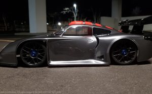 URCG Edition - Traxxas Slash 4x4, Delta Plastik USA body - Gunmetal Porsche GT1, Sweep Racing Tires - named GT1 GUN (side view)