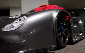 URCG Edition - Traxxas Slash 4x4, Delta Plastik USA body - Gunmetal Porsche GT1, Sweep Racing Tires - named GT1 GUN (front view)