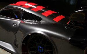 URCG Edition - Traxxas Slash 4x4, Delta Plastik USA body - Gunmetal Porsche GT1, Sweep Racing Tires - named GT1 GUN (side view)