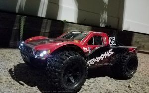 URCG Edition - Traxxas Slash 4x4 TSM OBA - Mark Jenkins, ProLine Trencher Tires - named Larry The Lawnmower (front view)