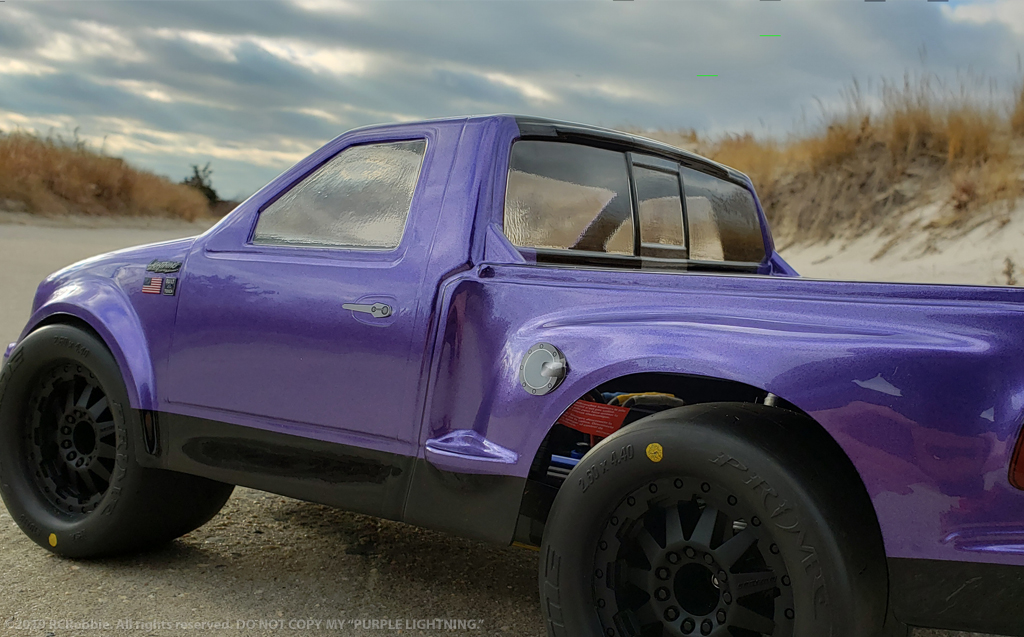 Ford Truck Purple Lightning