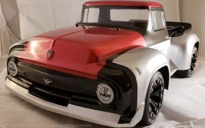 URCG Edition - Traxxas Slash 4x4, ProLine body - Silver Ford 56 F-100, Duratrax Bandito Tires - named Silver Stinger (front view)