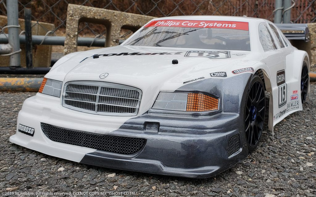 URCG Edition - Traxxas Slash 4x4, Delta Plastik USA body - White Mercedes C DTM, Sweep Racing Tires - named Ghost CDTM