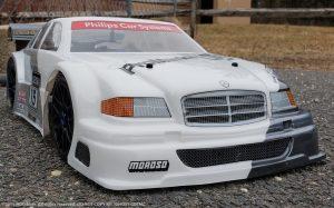 URCG Edition - Traxxas Slash 4x4, Delta Plastik USA body - White Mercedes C DTM, Sweep Racing Tires - named Ghost CDTM