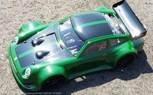 URCG Edition - Traxxas Slash 4x4, Delta Plastik USA body - Racing Green Porsche 911 GT3, Sweep Racing Tires - named G-TRAIN