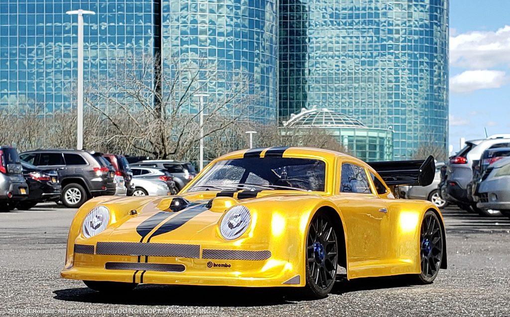 URCG Edition - Traxxas Slash 4x4, Delta Plastik USA body - Gold Porsche 911 GT3, Sweep Racing Tires - named Gold Fingaz