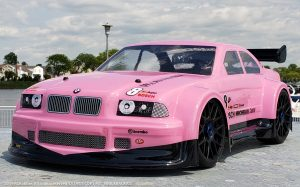 URCG Edition - Traxxas Slash 4x4, Delta Plastik USA body - Pink BMW M3 GT, Sweep Racing Tires - named pINK kRACKAS