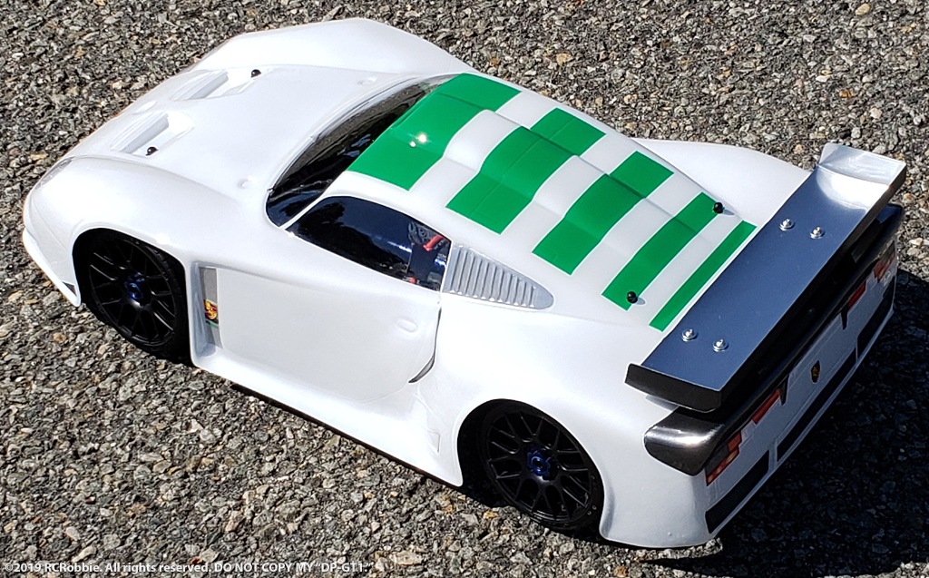 URCG Edition - Traxxas Slash 4x4, Delta Plastik USA body - White Porsche GT1, Sweep Racing Tires - named DP-GT1