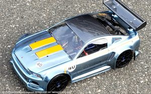URCG Edition - Traxxas Slash 4x4, Delta Plastik USA body - Sky Blue Ford Mustang, Sweep Racing Tires - named Metallic Stallion