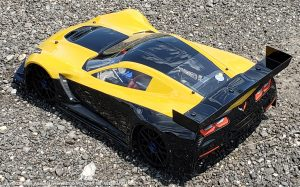 URCG Edition - Traxxas Slash 4x4, PROTOform body - Yellow and Black Cheverolet Corvette C7, Sweep Racing Tires - named Agent Mustard