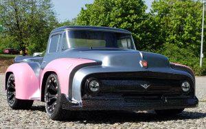 URCG Edition - Traxxas Slash 4x4, ProLine body - Gunmetal Ford 56 F-100, Duratrax Bandito Tires - named Glitter Critter