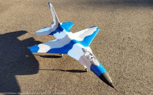 URCG Edition - E-flite RC Thunderbirds F-16 70mm EDF BNF - 3-Color Snow Camo F-16 with Gray Belly - named ICY THUNDER