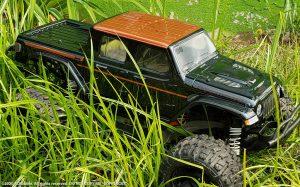 URCG Edition - Traxxas Slash 4x4, ProLine body - Light Blue Jeep Gladiator Rubicon 4-Door, ProLine Trencher Tires - named COPPER CAT