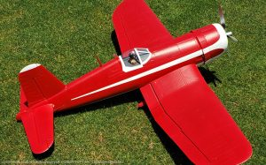 URCG Edition - E-flite RC Vought F4U Corsair 4-Blade Propeller BNF - Crimson Red, White Racing Livery, White belly with Racing Livery - named Crimson Cruiser