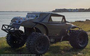 URCG Edition - Traxxas Slash 4x4, ProLine body - Gun Metal, Black and Silver Megalodon Desert Buggy, 2-Door, ProLine Trencher Tires - named COLD45